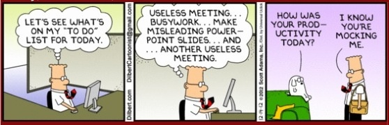 Dilbert on productivity